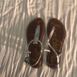 Sam Edelman Gigi flat Silver Sandals